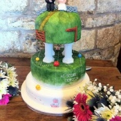 The finished masterpiece - displayed at our wedding reception