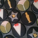 Hollywood Themed Victoria Sponge cupcakes