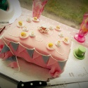 Vintage Mad Hatters Tea Party Baby Shower Cake