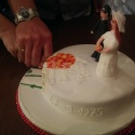 Gluten free ruby wedding anniversary cake for my lovely parents.