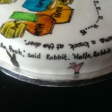 Text round the outside of my daughters birthday cake.