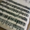 Sheet music for 'Tuba Smarties' for my dads' 60th birthday - gluten free vanilla cake