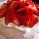 Strawberry meringue, strawberry mousse, whipped cream and strawberries. what's not to like?