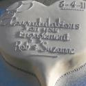 Heart shaped engagement cake
