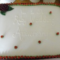 Rosy Ruby Wedding Anniversary cake decorated with tiny red roses