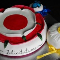 This was Hilary Mantels' ruby wedding anniversary cake