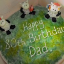 Birthday cake for a flat-cap wearing sheep farmer