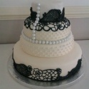 Hand iced lace combining ideas from the brides' favourite wedding dress designs