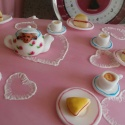 Miniature edible tea party.