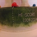 The second tier was dedicated to my daughter with a high score of our wedding date