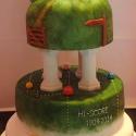 The wedding cake finished at last!